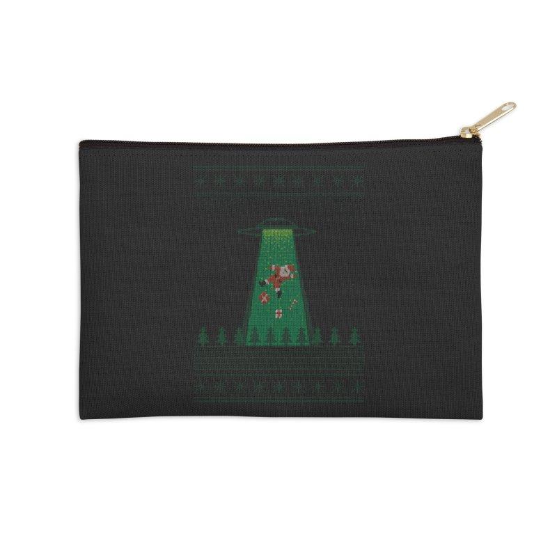 Goodbye Santa Accessories Zip Pouch by Morozinka Artist Shop
