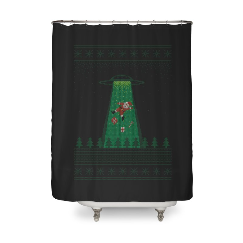 Goodbye Santa Home Shower Curtain by Morozinka Artist Shop