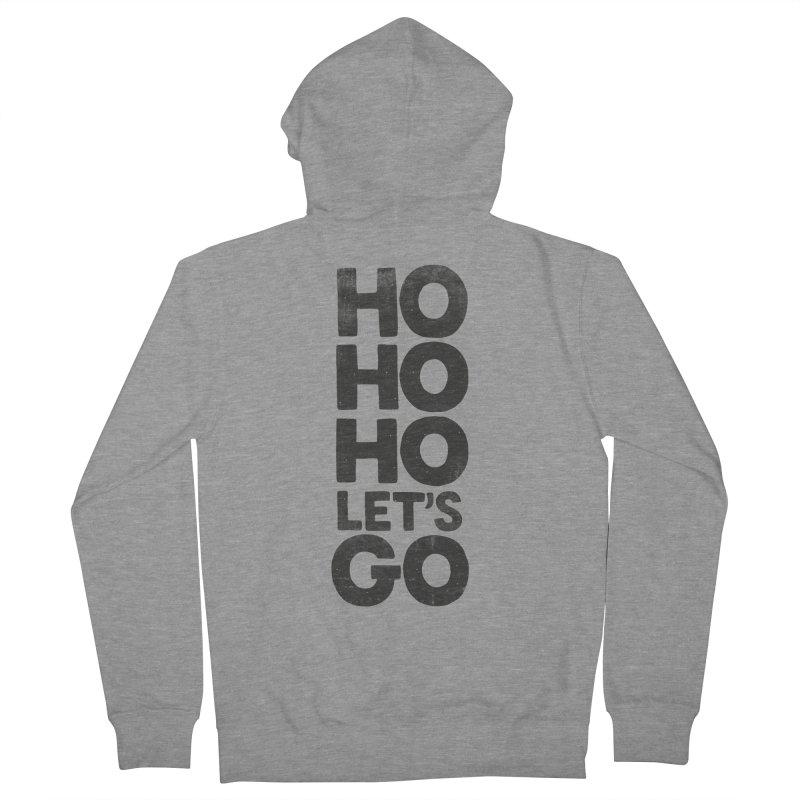 Ho Ho Ho, Let's Go! Men's Zip-Up Hoody by Morozinka Artist Shop
