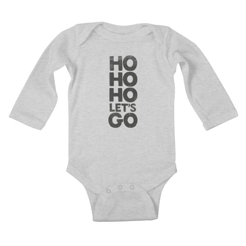 Ho Ho Ho, Let's Go! Kids Baby Longsleeve Bodysuit by Morozinka Artist Shop