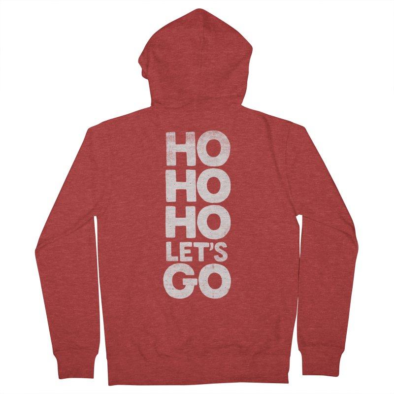Ho Ho Ho, Let's Go! Women's Zip-Up Hoody by Morozinka Artist Shop