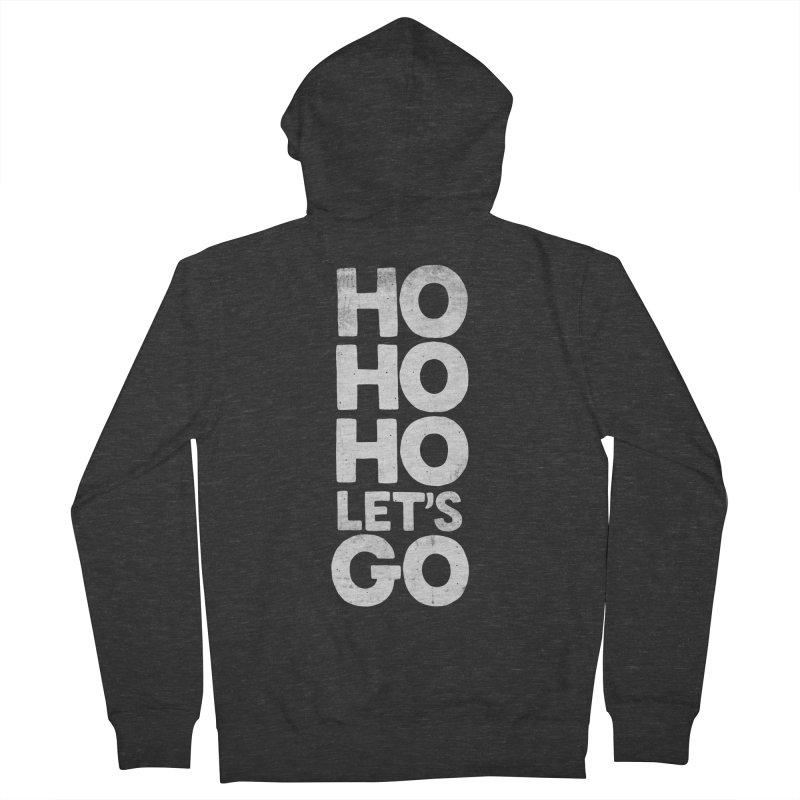 Ho Ho Ho, Let's Go! Men's French Terry Zip-Up Hoody by Morozinka Artist Shop
