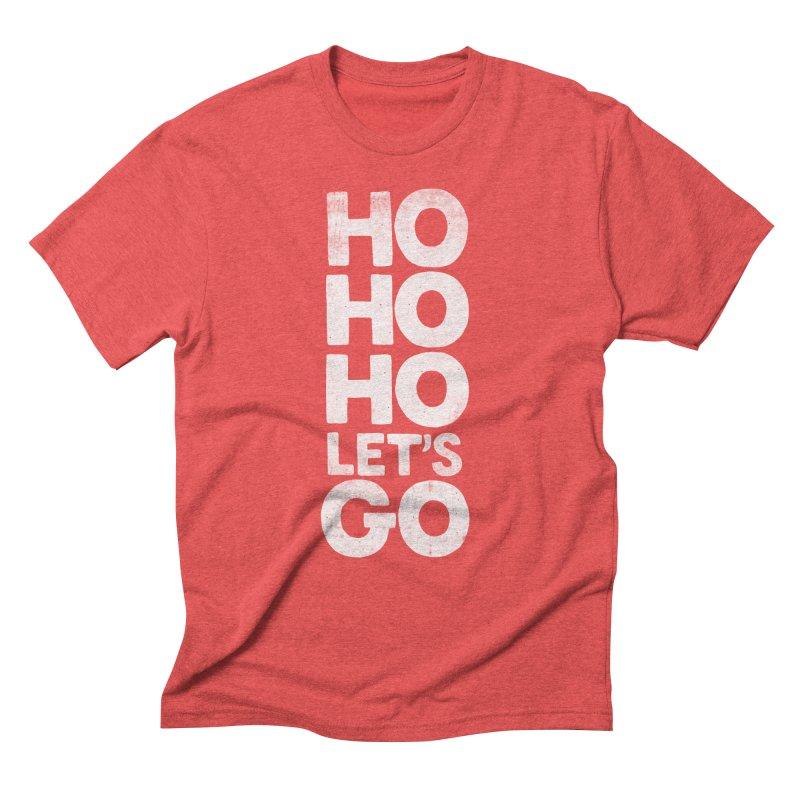Ho Ho Ho, Let's Go! Men's Triblend T-Shirt by Morozinka Artist Shop