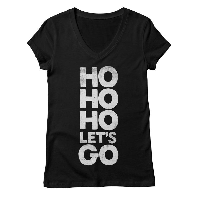 Ho Ho Ho, Let's Go! Women's V-Neck by Morozinka Artist Shop