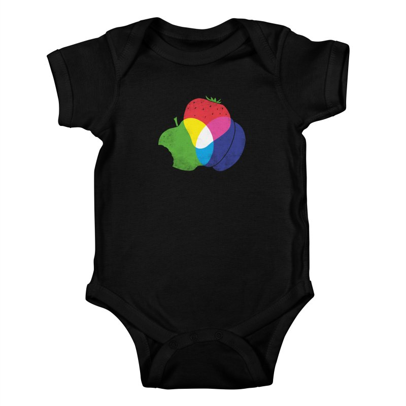 RGB Fruit Kids Baby Bodysuit by Morozinka Artist Shop
