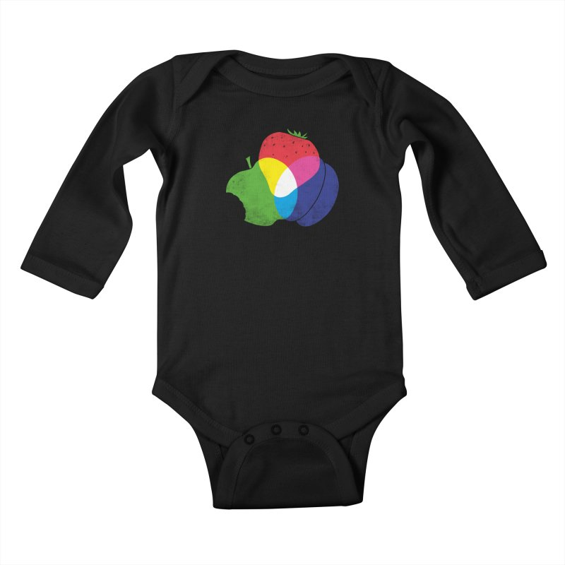 RGB Fruit Kids Baby Longsleeve Bodysuit by Morozinka Artist Shop