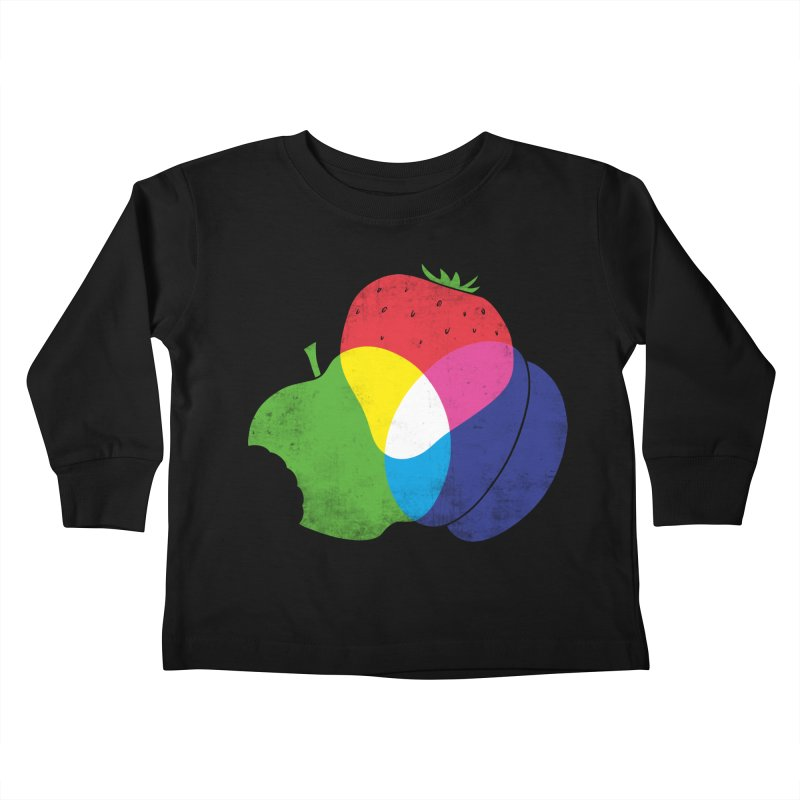 RGB Fruit Kids Toddler Longsleeve T-Shirt by Morozinka Artist Shop