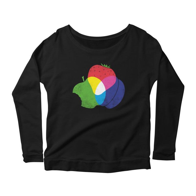 RGB Fruit Women's Scoop Neck Longsleeve T-Shirt by Morozinka Artist Shop