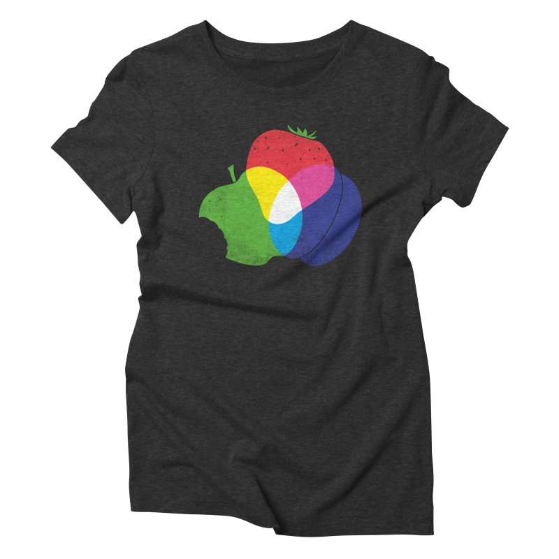 RGB Fruit Women's Triblend T-shirt by Morozinka Artist Shop