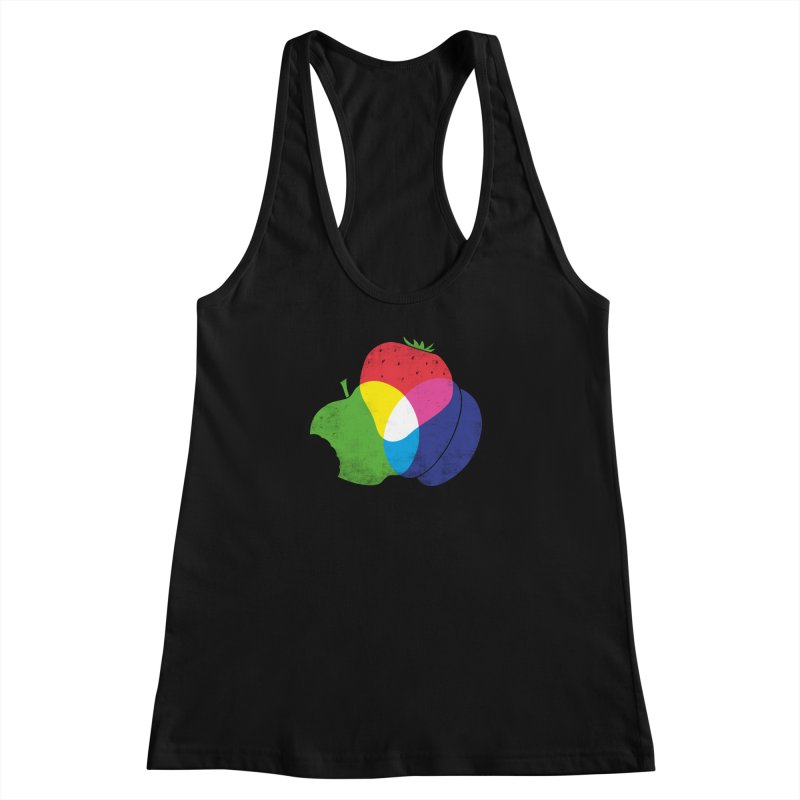 RGB Fruit Women's Racerback Tank by Morozinka Artist Shop