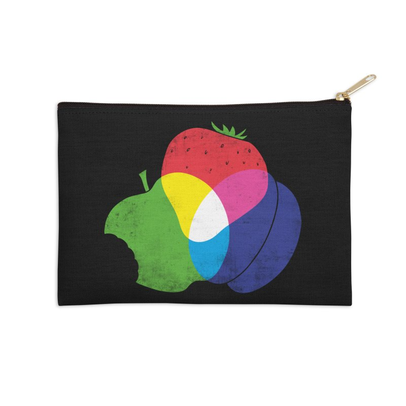 RGB Fruit Accessories Zip Pouch by Morozinka Artist Shop