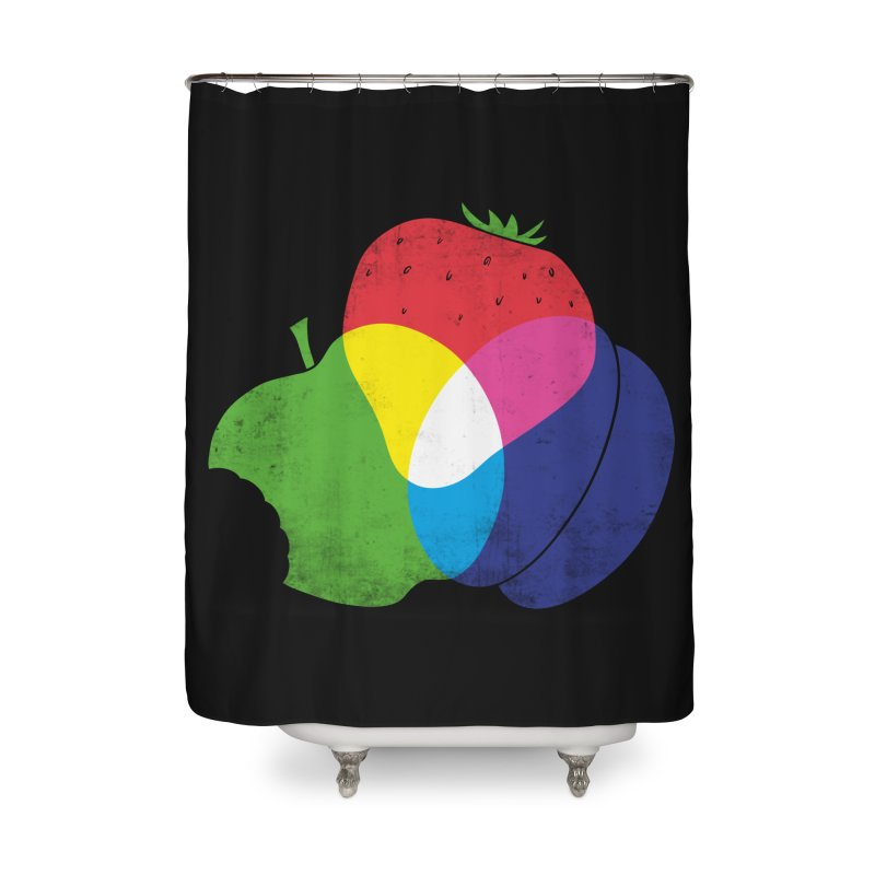 RGB Fruit Home Shower Curtain by Morozinka Artist Shop