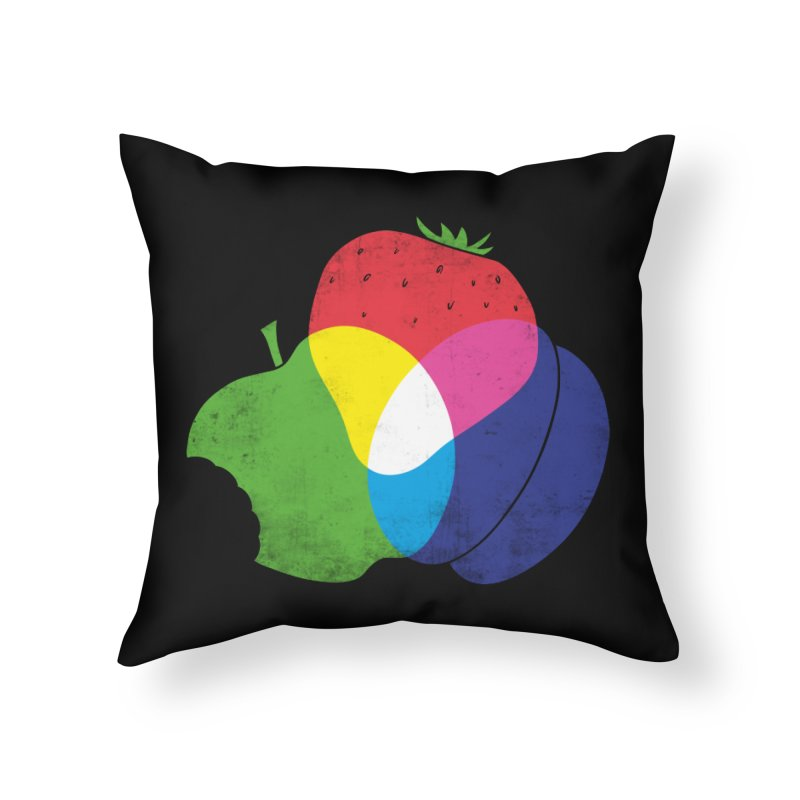 RGB Fruit Home Throw Pillow by Morozinka Artist Shop