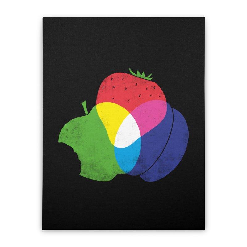 RGB Fruit Home Stretched Canvas by Morozinka Artist Shop
