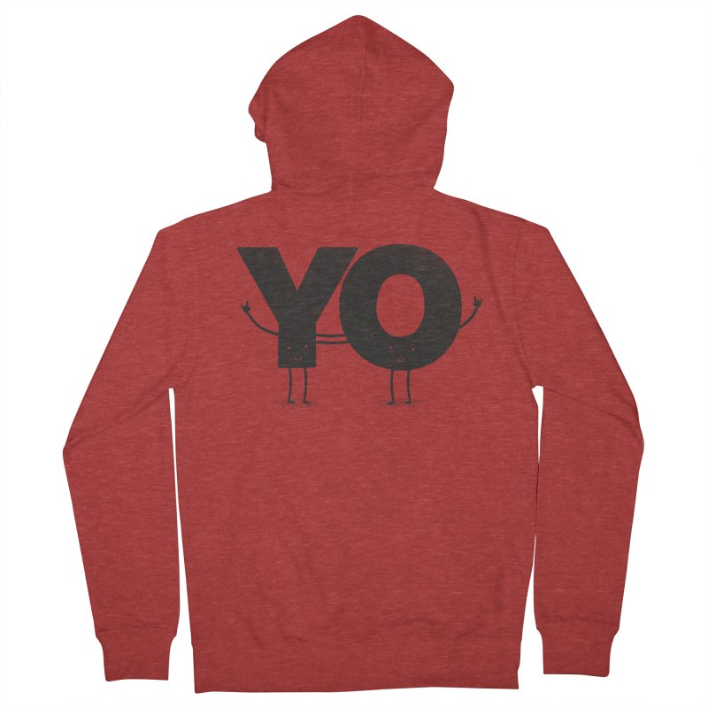 YO Men's French Terry Zip-Up Hoody by Morozinka Artist Shop