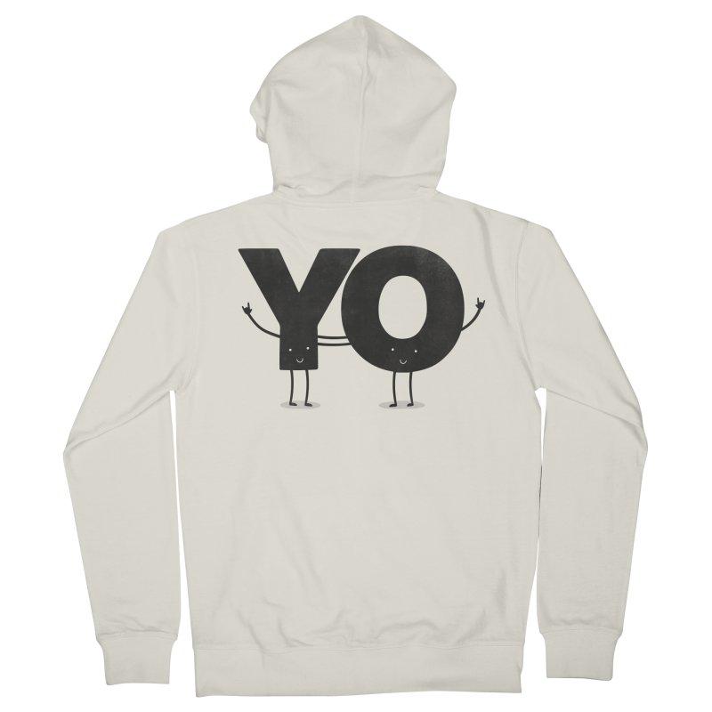 YO Men's Zip-Up Hoody by Morozinka Artist Shop