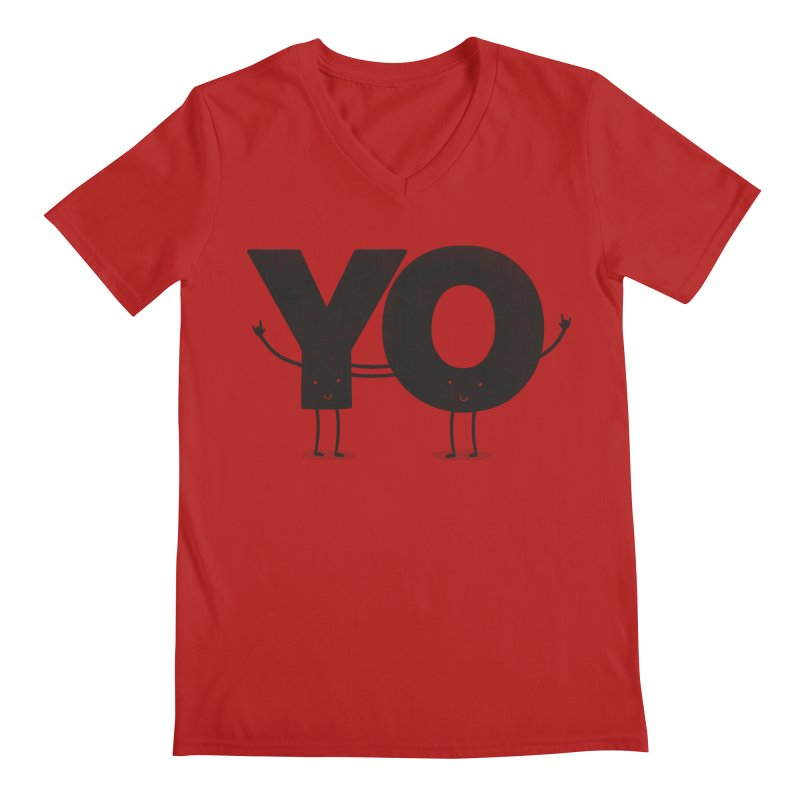YO Men's V-Neck by Morozinka Artist Shop