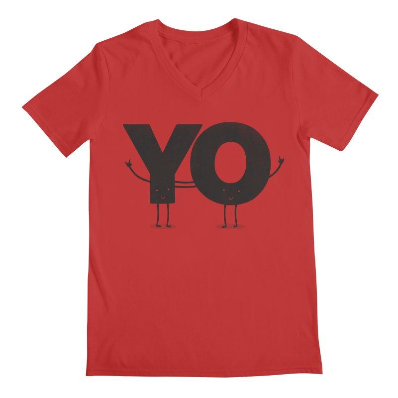 YO Men's V-Neck by Morozinka Artist Shop