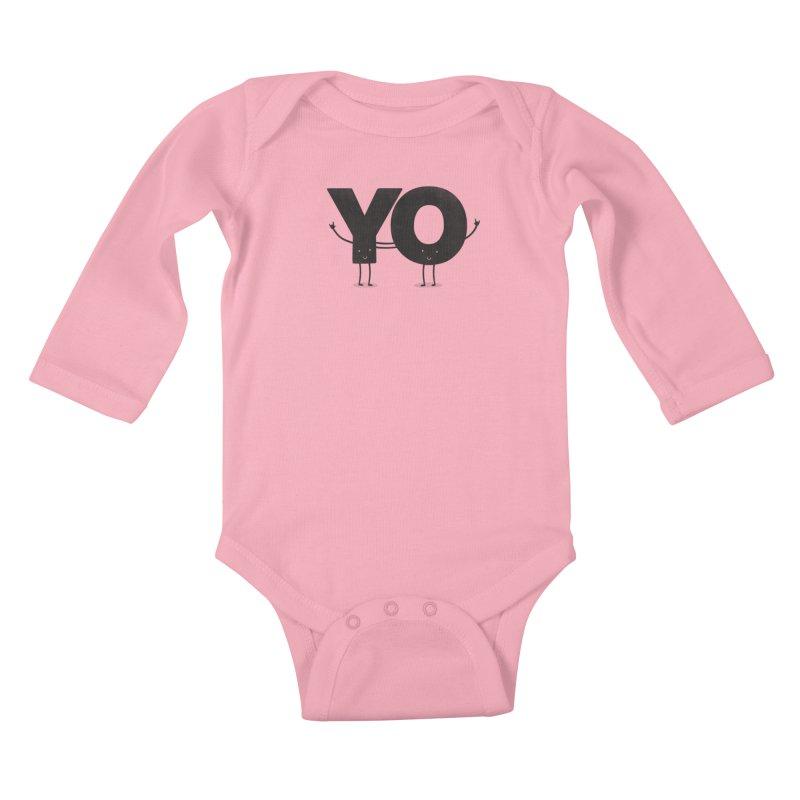 YO Kids Baby Longsleeve Bodysuit by Morozinka Artist Shop