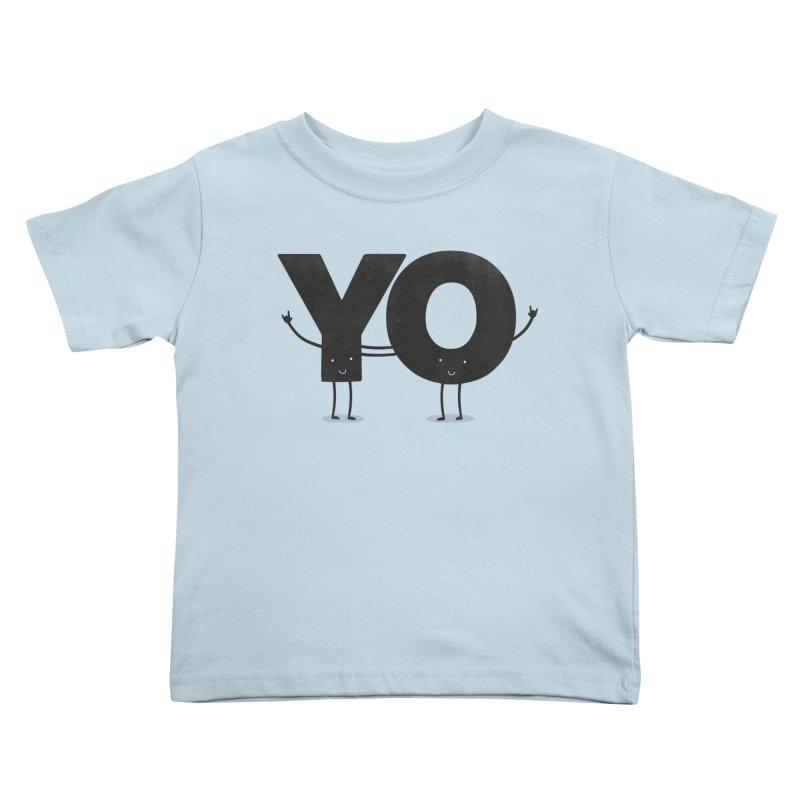 YO Kids Toddler T-Shirt by Morozinka Artist Shop