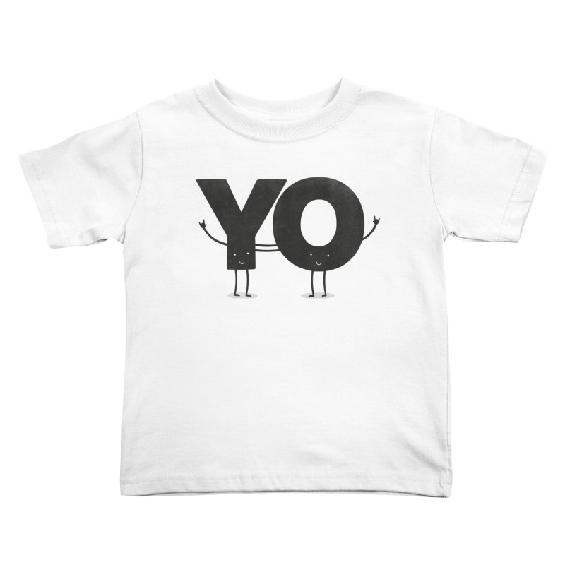 YO Kids Toddler T-Shirt by Morozinka Artist Shop