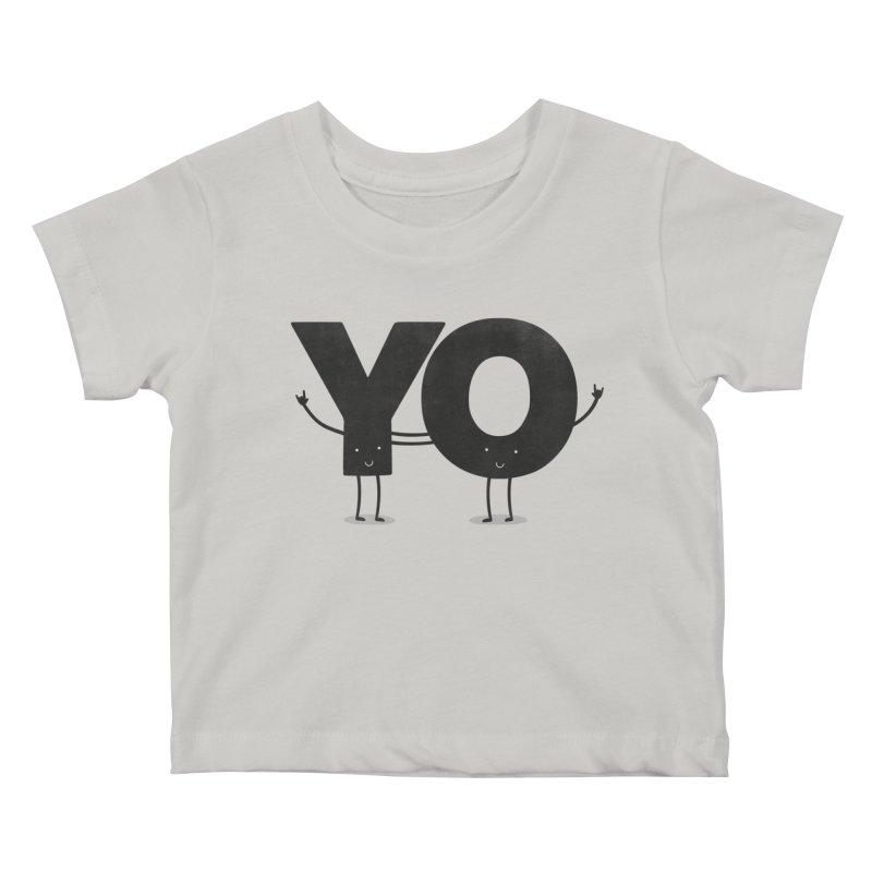 YO Kids Baby T-Shirt by Morozinka Artist Shop