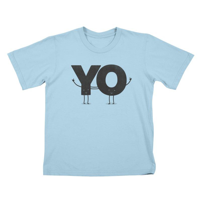 YO Kids T-shirt by Morozinka Artist Shop