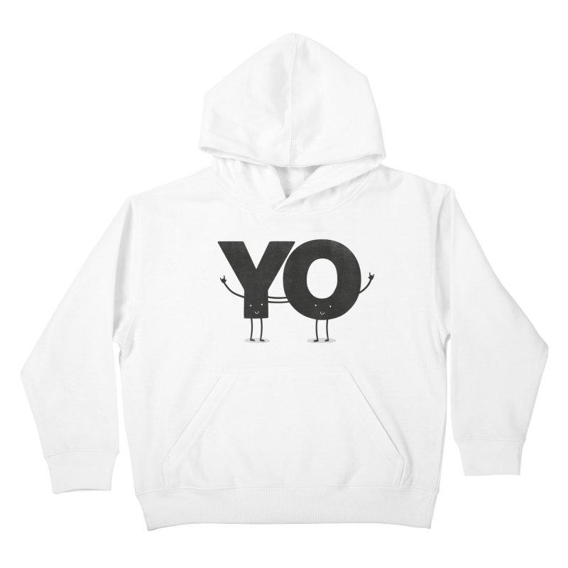 YO Kids Pullover Hoody by Morozinka Artist Shop