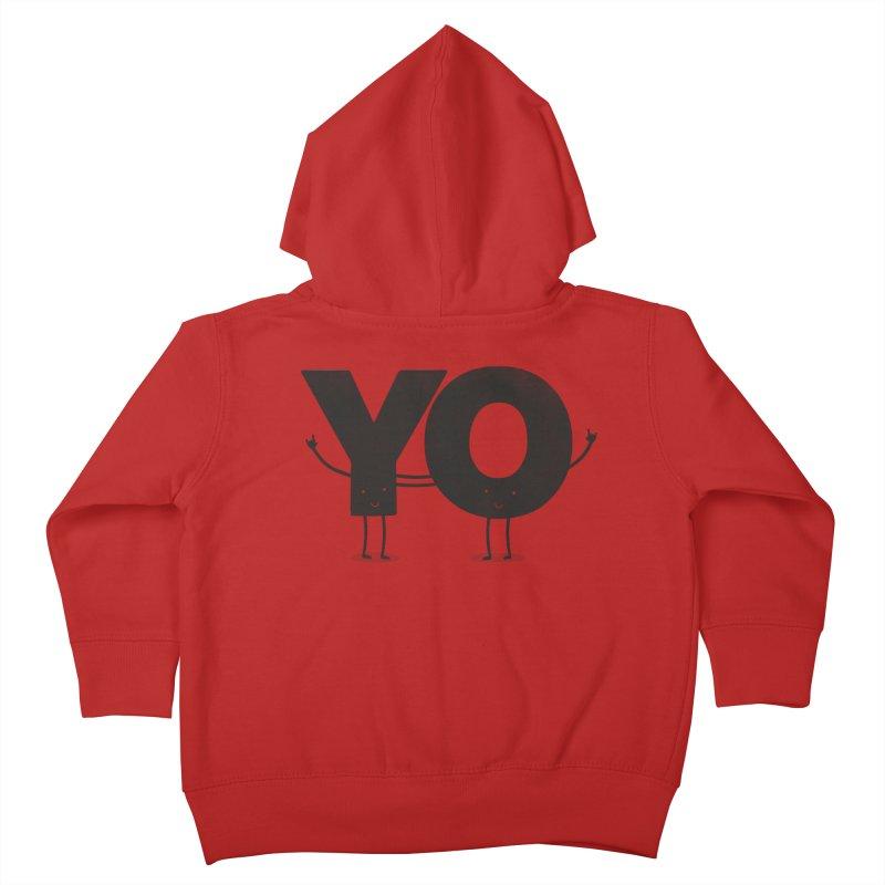 YO Kids Toddler Zip-Up Hoody by Morozinka Artist Shop