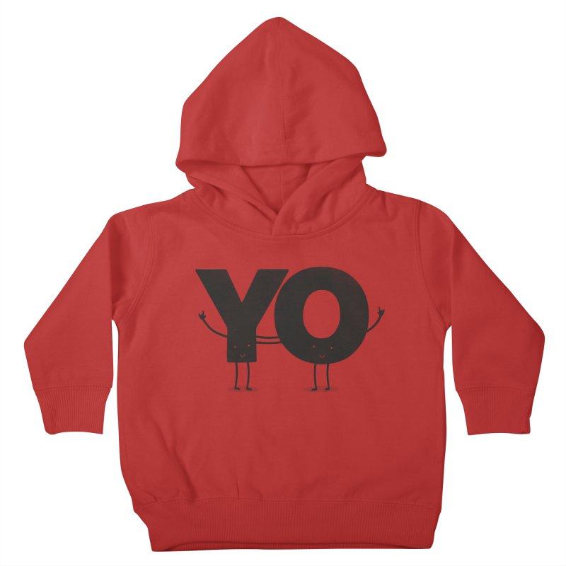 YO Kids Toddler Pullover Hoody by Morozinka Artist Shop