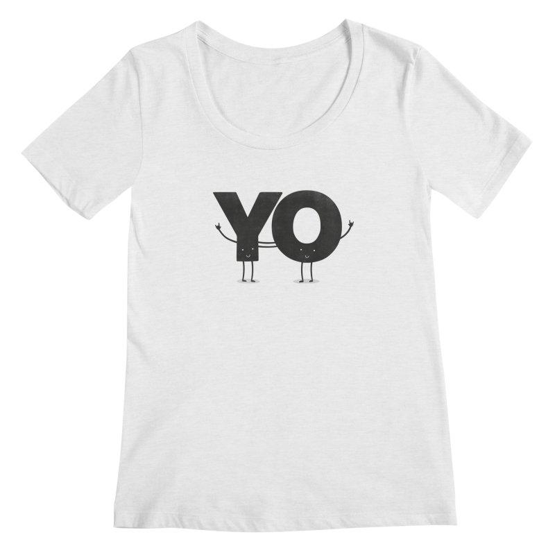 YO Women's Scoopneck by Morozinka Artist Shop