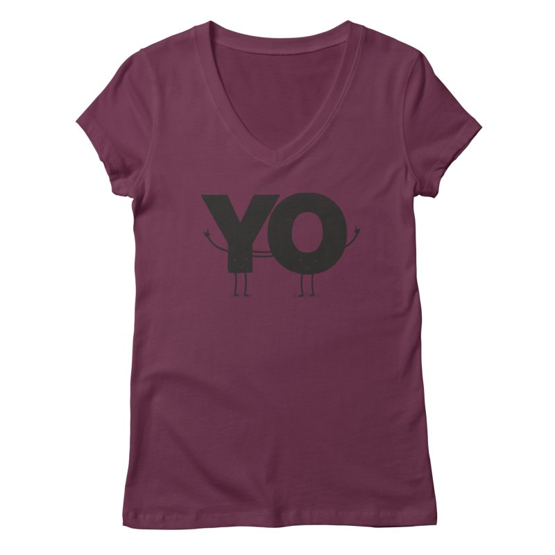 YO Women's Regular V-Neck by Morozinka Artist Shop