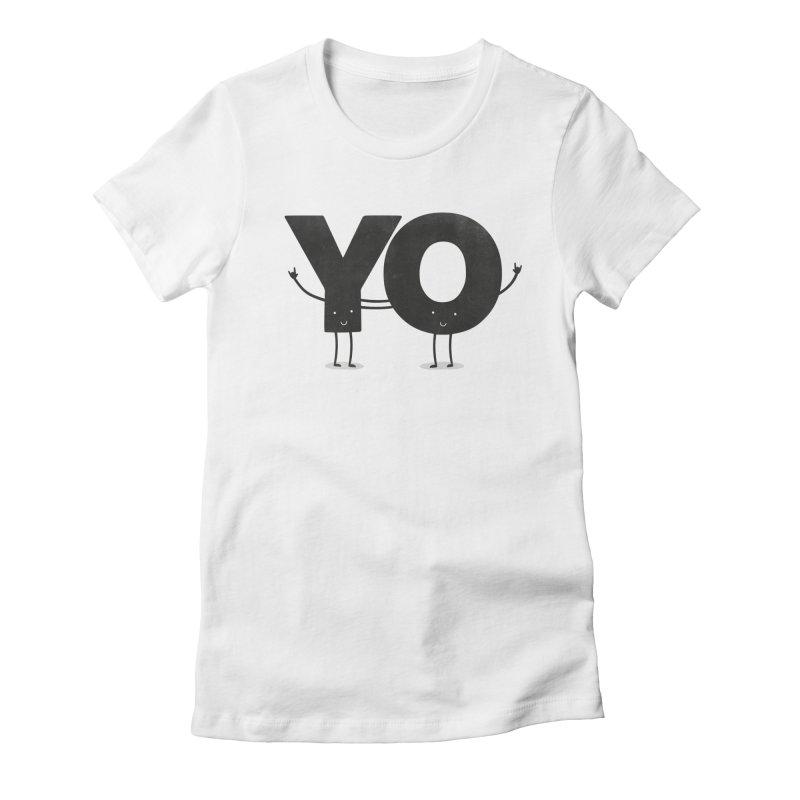 YO Women's Fitted T-Shirt by Morozinka Artist Shop