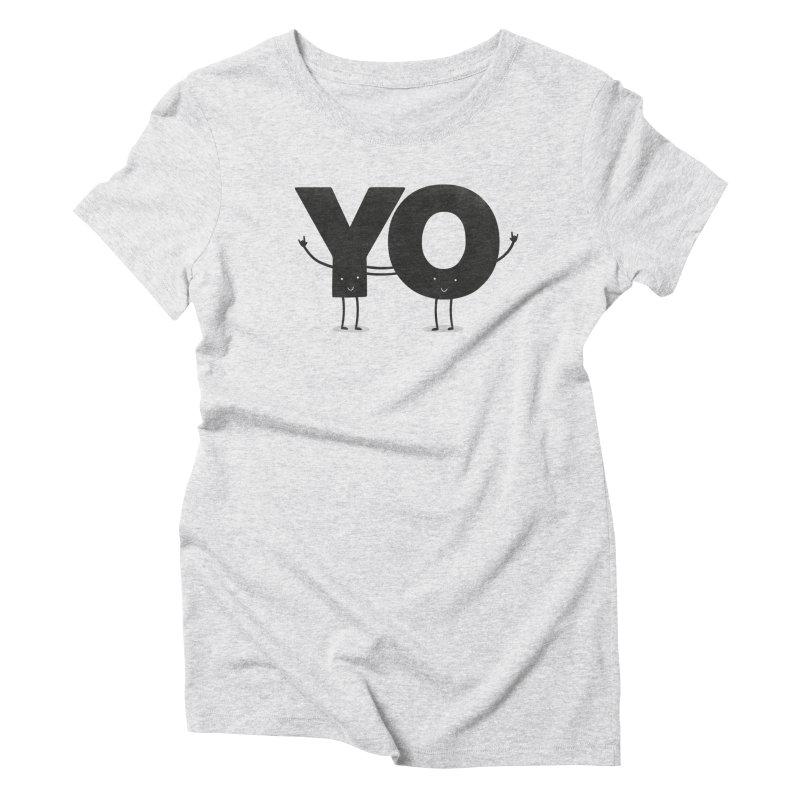 YO Women's Triblend T-Shirt by Morozinka Artist Shop