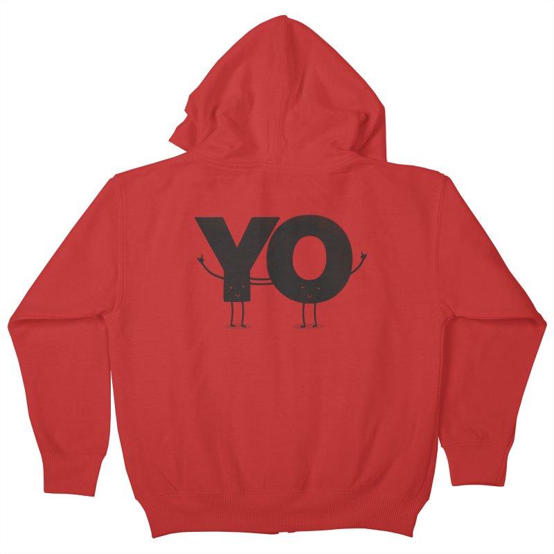 YO Kids Zip-Up Hoody by Morozinka Artist Shop