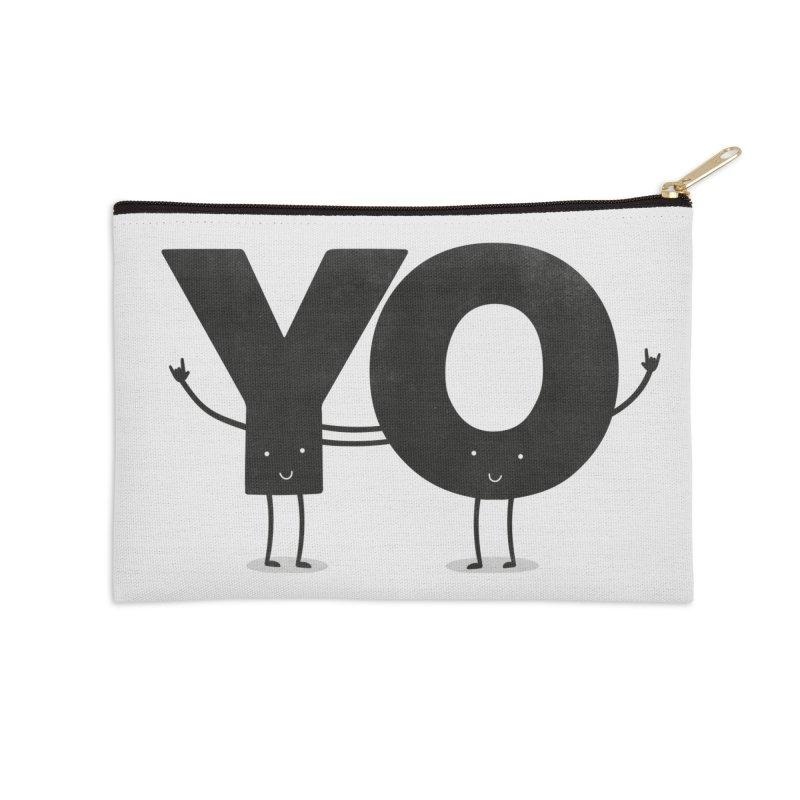 YO Accessories Zip Pouch by Morozinka Artist Shop