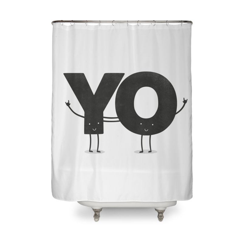 YO Home Shower Curtain by Morozinka Artist Shop