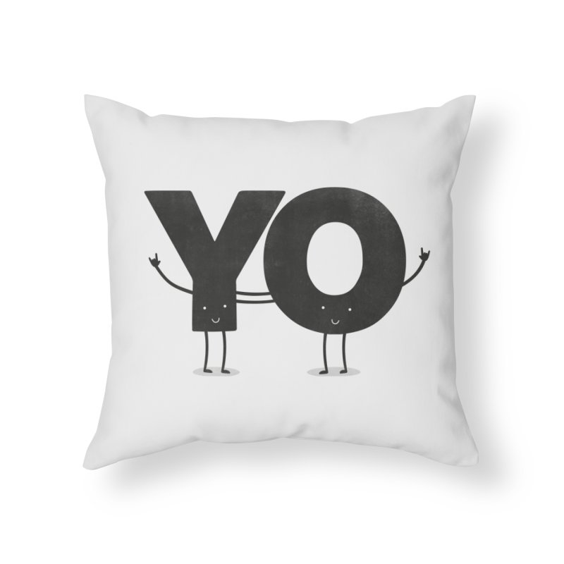 YO Home Throw Pillow by Morozinka Artist Shop