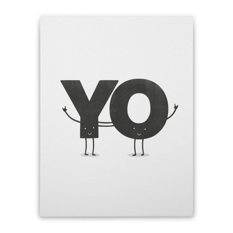 YO Home Stretched Canvas by Morozinka Artist Shop