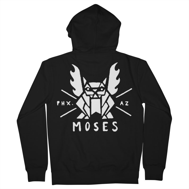 Moses Gargoyle - White Men's French Terry Zip-Up Hoody by Gargoyle Gear