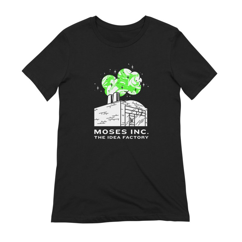 Moses Idea Factory in Women's Extra Soft T-Shirt Black by Gargoyle Gear