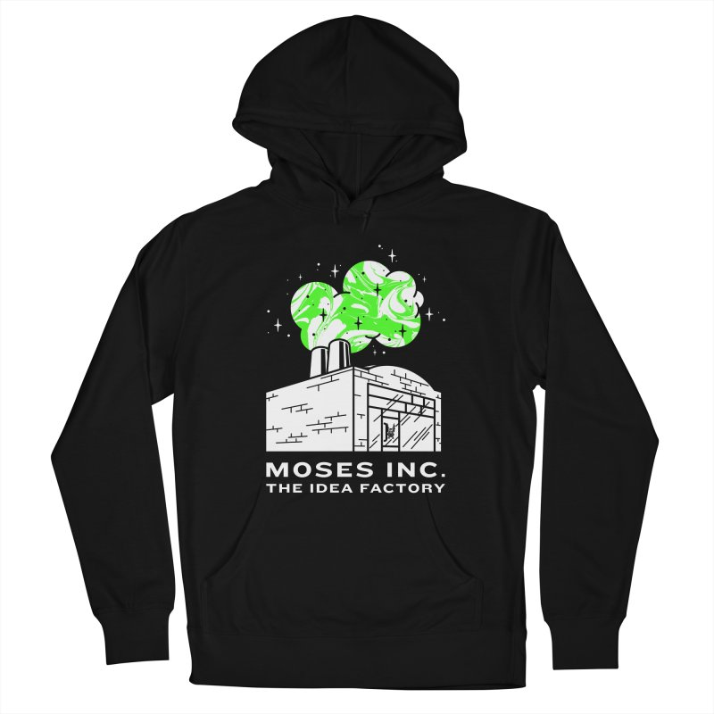 Moses Idea Factory in Men's French Terry Pullover Hoody Black by Gargoyle Gear