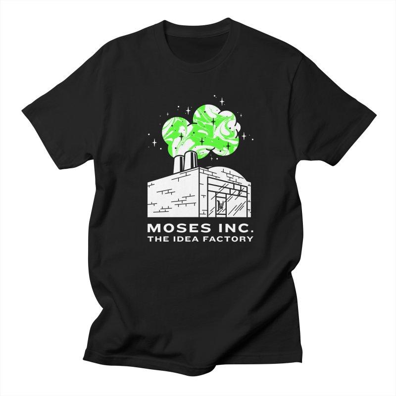 Moses Idea Factory in Men's Regular T-Shirt Black by Gargoyle Gear