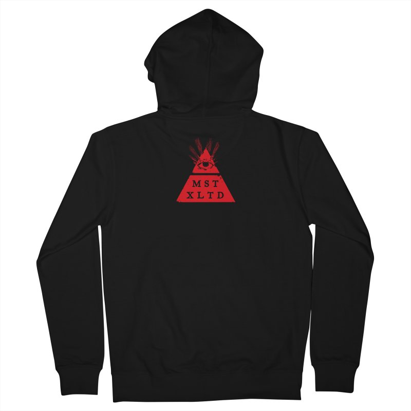 Small Red Most Exalted Logo Men's French Terry Zip-Up Hoody by Thee Most Exalted T-shirt page.
