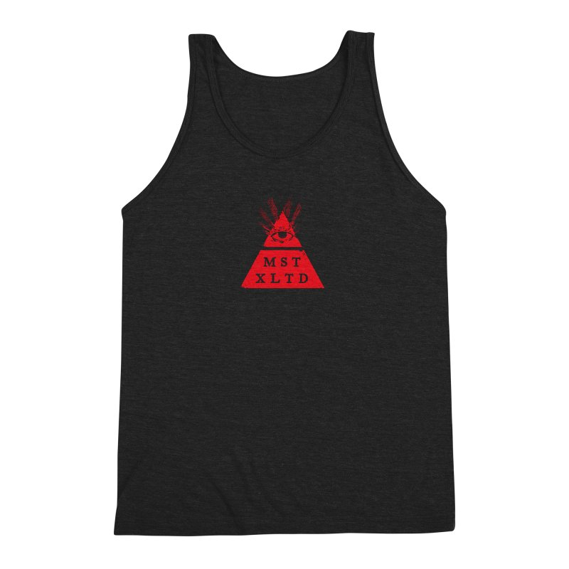 Small Red Most Exalted Logo Men's Triblend Tank by Thee Most Exalted T-shirt page.