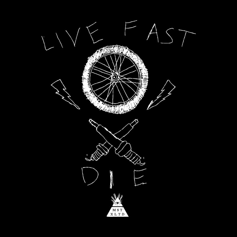Live Fast.  Die. Accessories Zip Pouch by Thee Most Exalted T-shirt page.
