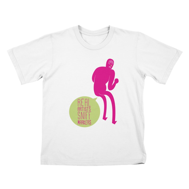 Real Artists Kids T-Shirt by Most Lonely Boy's Artist Shop