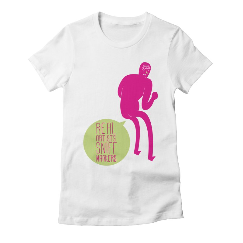 Real Artists Women's Fitted T-Shirt by Most Lonely Boy's Artist Shop