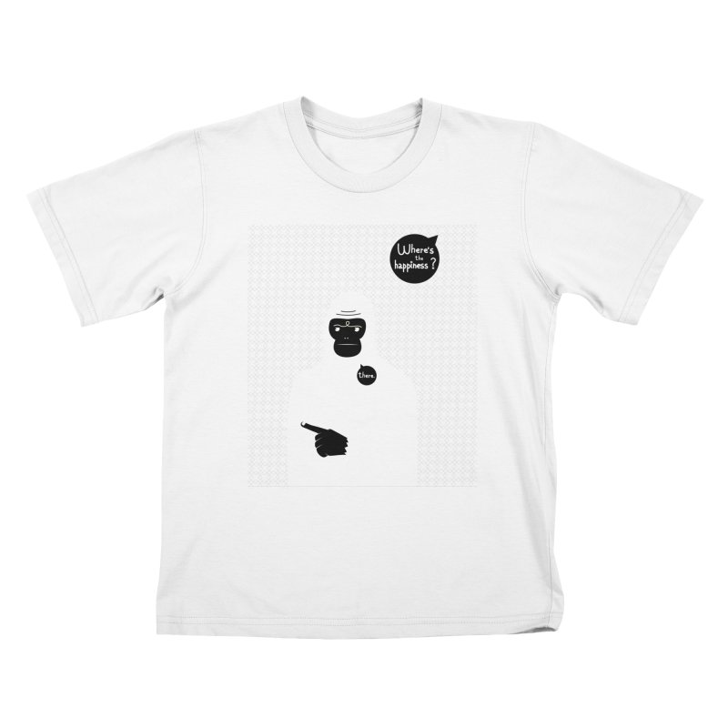 Where's the happiness Kids T-Shirt by Most Lonely Boy's Artist Shop