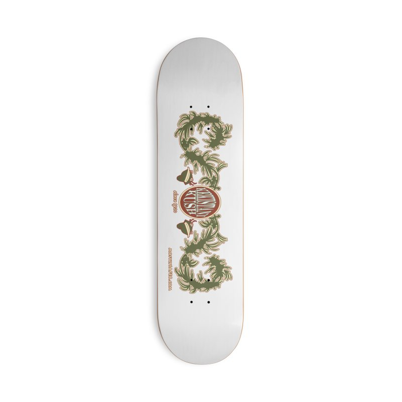 Kekistani Kush Accessories Deck Only Skateboard by MostlySAFE Webcomic Shwag